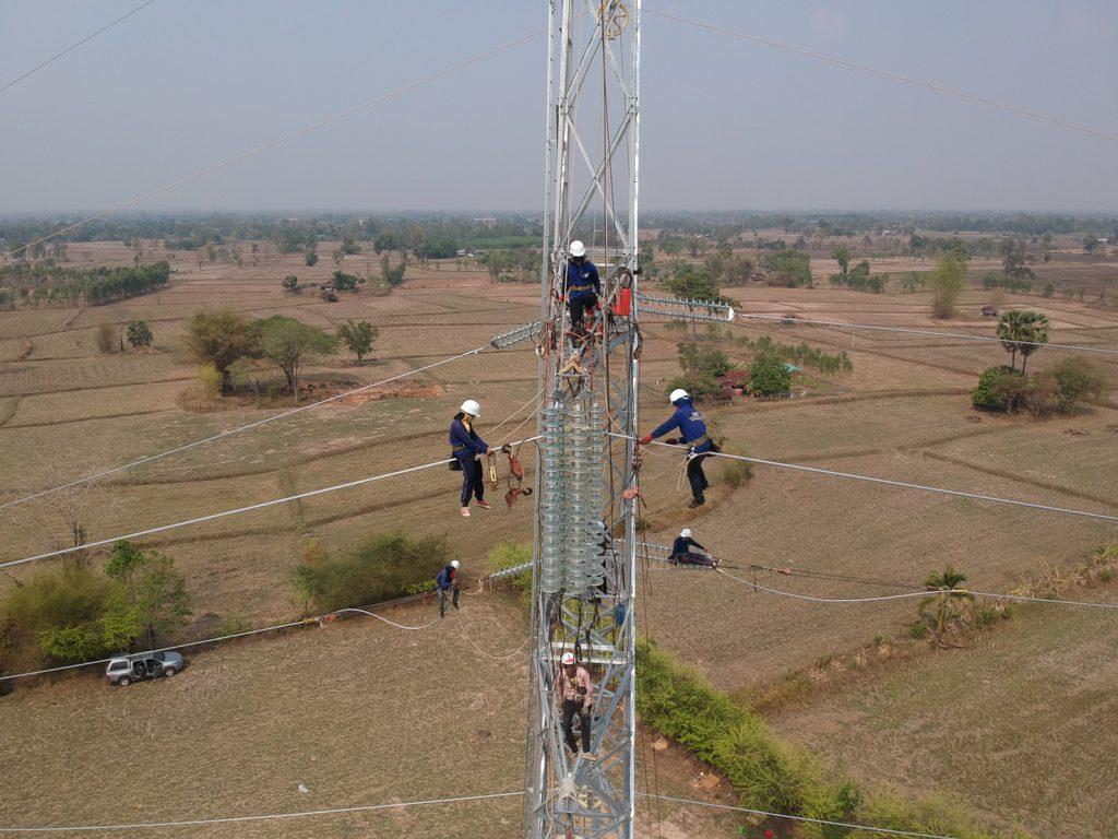 construction of high voltage transmission system